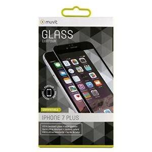Protector pantalla Muvit para Apple iPhone 8 Plus/7 Plus vidrio templado curvo