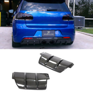 Fits Volkswagen VW Golf 6 MK6 R20 Rear Bumper Diffuser Protecter Carbon Fiber