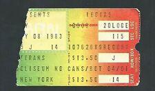 JOURNEY BRYAN ADAMS 5-8-1983 NASSAU COLISEUM TICKET STUB