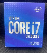 NEW SEALED!! - Intel Core i7-10700K Processor 3.8 GHz, 8 Cores, Socket LGA1200