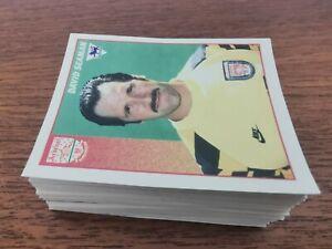 130 x Merlin Premier League 97 Football Sticker Job Lot * Numbers in Description