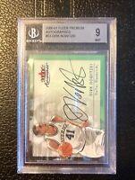 Dirk Nowitzki Card 2000-01 Fleer Autographics #53 Dallas Mavericks Beckett 9 BGS