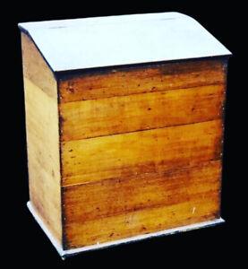 Country Home Kitchen Victorian Oak Grain Bin Storage Box