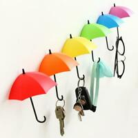Umbrella Key Hanger Wall Mount Holder Organizer Coat Hook Colorful Sticker Decal