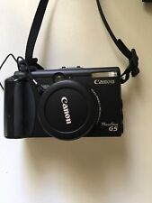 canon power shot G5 digital camera barely used.  Color black.  Original box.