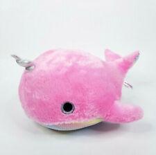 "Aurora Pink Unicorn Whale Plush Stuffed Animal Sparkle Eye Soft Toy 17"""