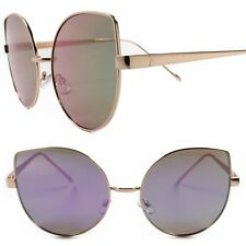 Designer Fashion Foxy Oversized Womens Purple Mirrored Lens Cat Eye Sunglasses