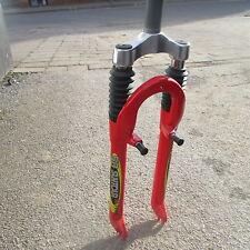 """SR Suntour Suspension  M7600 1"""" 1/8 Threaded Red Forks For V Brakes Only"""