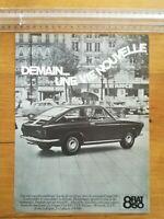 PUBLICITE ANCIENNE PUB ADVERT - Fiat coupé 850