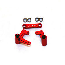 STRC Slash Rustler 2wd Steering Bellcrank Set Aluminum (Red) ST3743XR