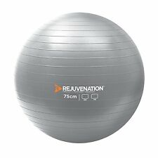 Rejuvenation 75cm Burst Resistance Exercise Ball w/Pump
