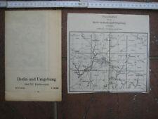 Landkarte Berlin Blatt 12 Fürstenwalde Landesaufnahme vierfarbig 1940 Storkow