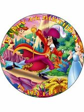"""PETER PAN - DESIGN 1 PERSONALIZED 7.5"""" CIRCLE ICING CAKE TOPPER"""