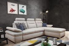 Ecksofa mit Schlaffunktion Bettkasten Schlafsofa  Eckcouch Couch Luxor Modern 01