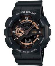 CASIO G-SHOCK GA-110RG-1A BLACK-ROSE GOLD ANALOGUE / DIGITAL MEN'S WATCH