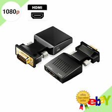 Vga To Hdmi Adapter Full Hd 1080P Audio Video Converter Laptop Pc To Tv Hdtv Av