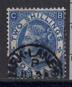 QV 1867-80 2/- SG 119 Deep Blue Park Lane CDS used