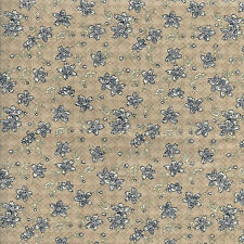 Fat Quarter Quilting Fabric ~ Navy and Beige Floral