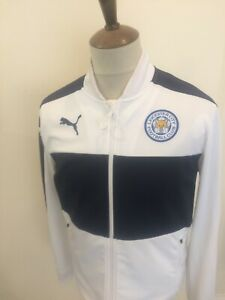 PUMA LEICESTER CITY FOOTBALL TRACKSUIT TOP SIZE MEDIUM WHITE