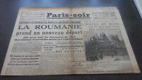 JOURNAUX PARIS-SOIR  N°82  MERCREDI  11 SEPTEMBRE 1940 ABE