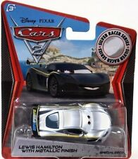 DISNEY CARS 2 LEWIS HAMILTON WITH METALLIC FINISH NEW IN PACKAGE RETIRED VHTF!!!