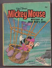 Walt Disney Mickey Mouse Mystery At Dead Man's Cove Big Little Book Whitman Blb