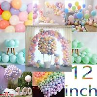 "12"" Macaron Candy Pastel Latex Balloon Wedding Party Decor Birthday Decor"