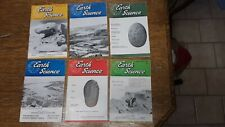 """Lot of 6 Earth Science Rockhounds"""" National Magazine 1963 - 1965 Free Shipping"""