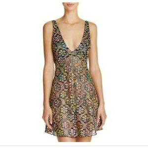 Intimately free people forget me not Chemise NWT size is black and metallic