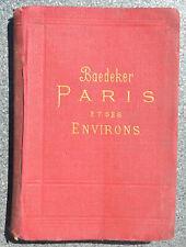 guide BAEDEKER Paris et ses environs 1900 - avec plans et cartes - FRANCE