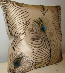 "Voyage,Bolshoi, embroidered silk, cushion cover,  17 x 17"""