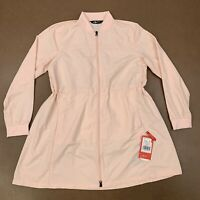 The North Face Women's Size Medium Flybae Pink Salt Long Line Bomber Jacket NWT