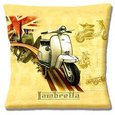 "Lambretta Scooter 16""x16"" 40cm Cushion Cover Vintage Retro Union Jack London MOD"