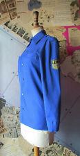 DDR Blau-Hemd FDJ-Bluse Uniform Kostüm Sammler (EICHSFELD KONFEKTION) Gr. 158 XS