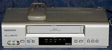 MAGNAVOX MVR650MG/17 VCR VHS Video 4 HEAD Hi-Fi Player/Recorder w/REMOTE !WORKS!