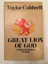 1970 Taylor Caldwell Great Lion of God Novel about St. Paul 1st Ed Book Bce
