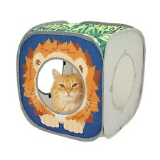 Pet Cat Kitten Kitty Pop-up Collapsible Lounge Play Lion Cube Toy Tunnel Kennel