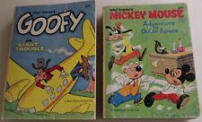 Vintage Walt Disney Big Little Books Goofy & Mickey Mouse Whitman 1968