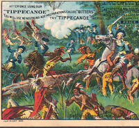 Tippecanoe Bitters 1883 Indian War Battle Malaria Cure Advertising Trade Card