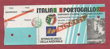 Orig.Ticket   EM Qualifikation 05.12.1987   ITALIEN - PORTUGAL  !!  SEHR SELTEN