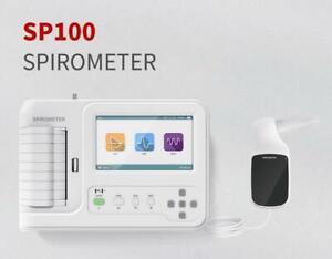 Digitales Spirometer Tragbares Lungenvolumen-Lungenfunktionsgerät, Touch,DRUCKER