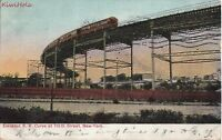 Postcard Elevated Railroad Curve 110th Street New York NY
