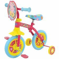 Peppa Pig Happy 2 in 1 10 Inch Training Bike Gift Multi Stabilisers Basket