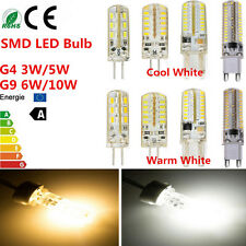 G4 G9 SMD Warm/Cool White LED Spotlight Light Globe Lamp Bulbs 3W/5W/6W/10W HOT