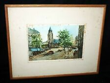 French Color Print 157/500 Cityscape & Church by Charles Maurin (1856-1914)(TaE)