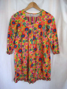Girls Hannah Anderson Multicolor Long Sleeve Dress Size 130 (US Size 8)