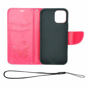 For iPhone 12 Pro PU Leather Wallet Flip Phone Case Cover With Credit Card Slot