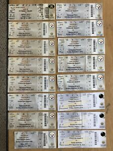 LOT OF 16 VINTAGE PITTSBURGH STEELERS FOOTBALL TICKETS TICKET STUBS 2007 - 2019