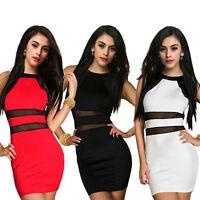 Sexy Party Dress Women Dress Lady Slim Dress Bodycon Sleeveless Dress NightClub