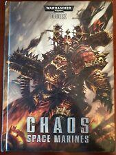 Games Workshop Warhammer 40k Chaos Space Marines Codex - Oop, Hardcover, 2012